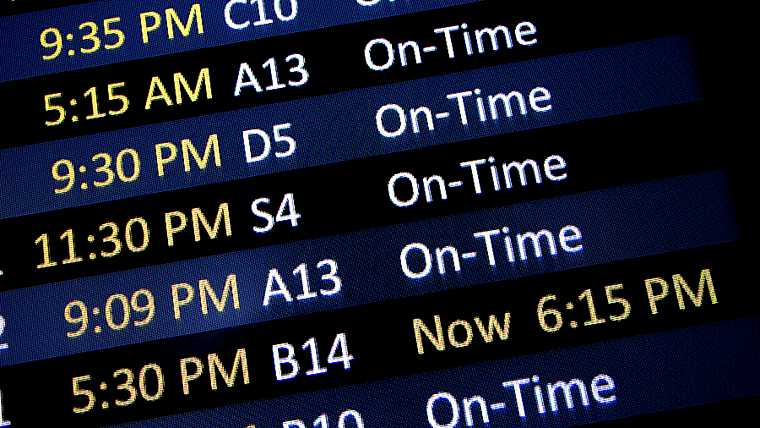 airlines; airport; arrive; black; color; delay; depart; direction; flight; help; late; logistic; message; neon; schedule; sign; signage; time; traveling; trip; unexpected; unplanned; warning; yellow;
