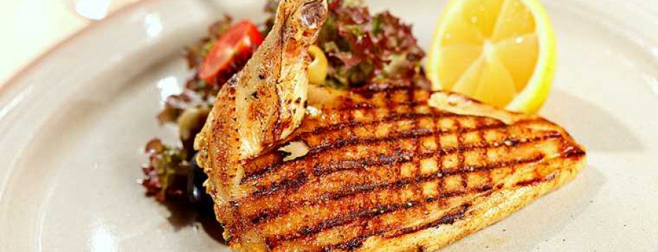 barbecue; bbq; breast; chicken; closeup; cooked; diet food; dinner; fillet; food; food and; garnish; grill; grilled; health food; healthy eating; herbs; leg; lemon; lettuce; meat; modern; olives; poultry; rosemary; salad; spicy; tomato;