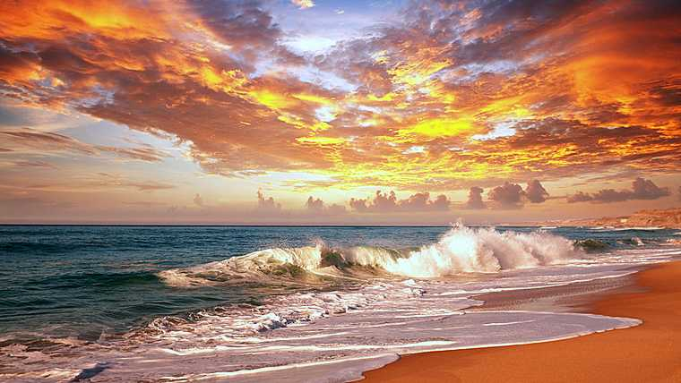 background; beach; dawn; destination; dusk; hawaii; hawaiian; holiday; landscapes; leisure; natural; nature; ocean; relax; sandy; sea; serenity; sunrise; sunset; surf; tide; travel; vacation; water; waves;